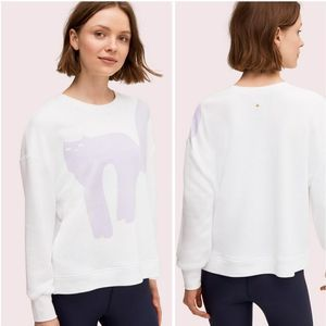 Kate Spade Cat Cow Pullover Sweater Size Large